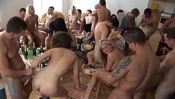 Beautiful Czech Girls Giving a Head at Home Party