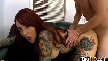 Tattoo babe big tits Mila Treasure first time.6