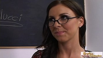 MILF teacher in glasses bangs her hung black student