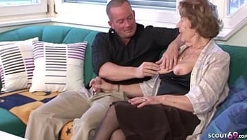 GERMAN GRANNY SEDUCE TO FUCK BY GRAND SON AND MOM CAUGHT