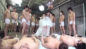 japanese bride gangbang with 100 men (Full Part)