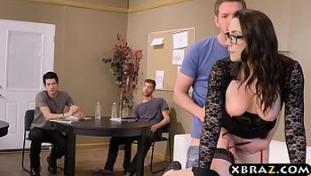 Professor gangbanged and double stuffed by her students