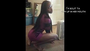 Sexy 20 yr old ebony amateur sells herself short