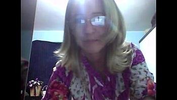 Casada exibicionista na webcam!