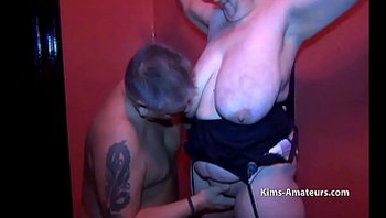 Mature amateur with massive saggy tits