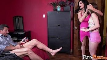 FILTHY FAMILY - Megan Marx Fucks Her Stepmom Becky Bandini & Stepdad