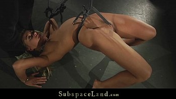 Dominator torments blonde and brunette in his bdsm room
