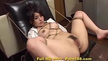 Porn188.com - Subtitled bizarre Japanese BDSM anal play with enema