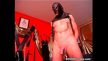 Extreme and bizarre BDSM play with two