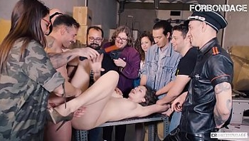 FORBONDAGE - Russian Hot MILF Sofia Curly Tries BDSM And Gets Drilled Hardcore In Group Sex