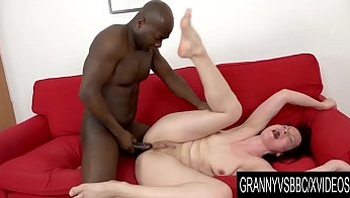 Granny Vs BBC - Mature Claudie Dark Prepares Her Ass for BBC with Huge Toy
