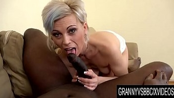 Granny Vs BBC - Older Kathy White Makes Her Black Bull Cum Inside