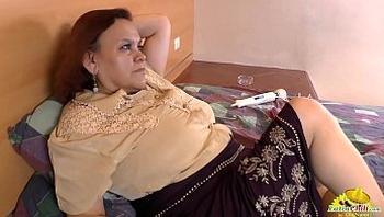 LATINCHILI Granny Gloria masturbating latin cunt