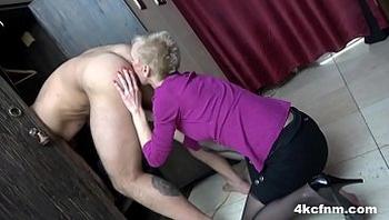 Insane Granny Rimming Me in the Locker Room