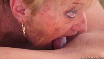 Kinky Granny licking Monique Woods