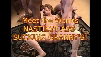 Worlds NASTIEST ASS SUCKING Grannys