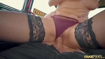 Fake Taxi Caty Kiss Wants to Pay with Sexy Topless Selfies