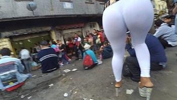Diosa mega culote  transparente leggin blanco