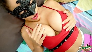 Busty Latina Slut Shows Huge Cameltoe In Tight Leggings