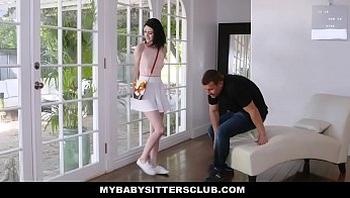 MyBabySittersClub - Pale Babysitter Teen Seduces Boss