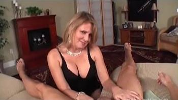 mom bridgett wants cum in her tummy pov blowjob