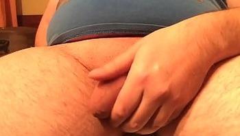 Jerkin my shaved penis