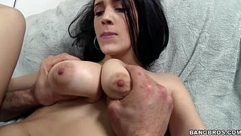 Dark Haired Natural Tit Beauty