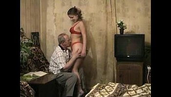 Grandaughter seduces Grandfather into fuck her