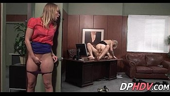 blonde tattoo whore fucked in office at work 3