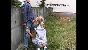 blonde teen nude in public