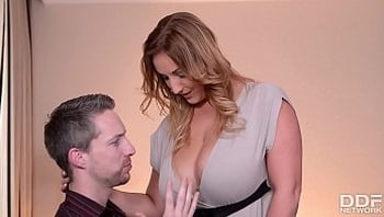 Professor fucks his Naturally Busty Wife before Vacation