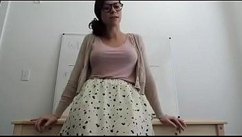 Big ass teacher shows EVERYTHING on camera!