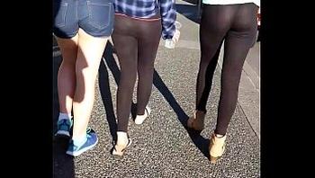 slut thong pants sheer