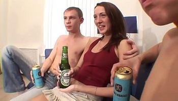 Russian threesome drunk