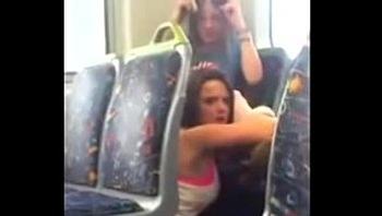 Lesbians caught in public bus