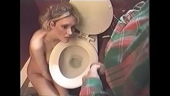 beautiful lady human urinal