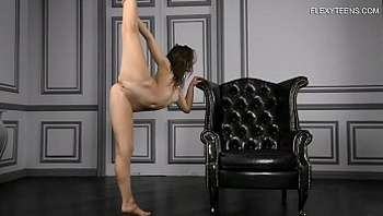 18 y.o young ballerina Vika Kovako shows the most flexible positions in front of the camera!