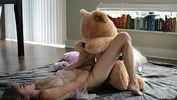 teen fucks teddy bear