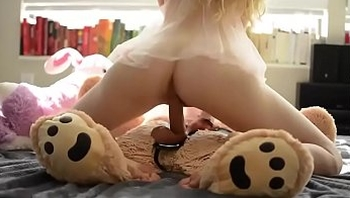 Sweet teen blonde fuck her teddy bear- Watch Part2 on SweetTeenCam.com