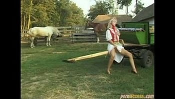paesant fucks outdoor in the farm with two men