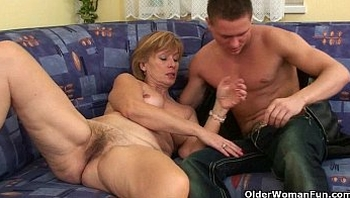Nothing better that shooting your cum on mom