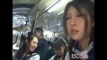 Asian schoolgirls groped in a bus