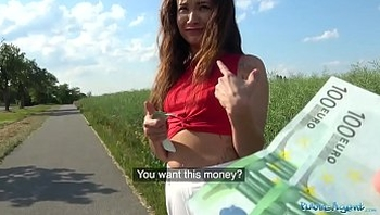 Public Agent Sexy Spanish beauty fucked in a field for cash public-agent