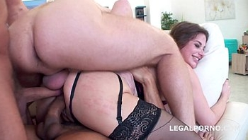Ninfo Animal with TouchDown. Kathy Heven and Ornella Morgan. ATM/SPITTING/CUM SWALLOW/DAP/DP/ANAL FI