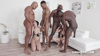 Interracial fucking orgy leaves Luna Rival & Sophia Laure