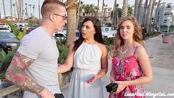 Lena Paul And Whitney Wright Share Boyfriend Nathan Red