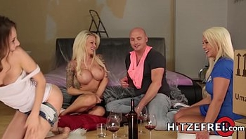 HITZEFREI Orgy with three beautiful busty German ladies