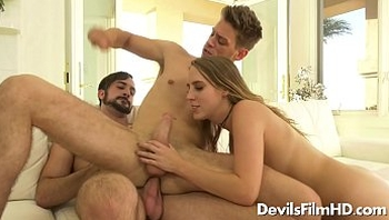Cadence Lux in bisexual FMM