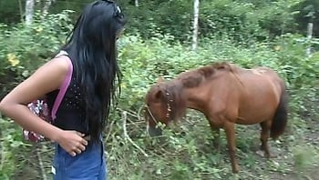 squirting next to horse because horse dick makes me horny