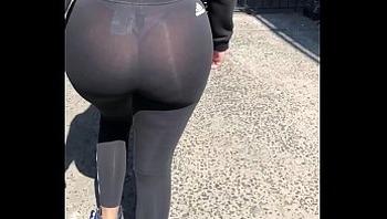 Incredible see thru ass